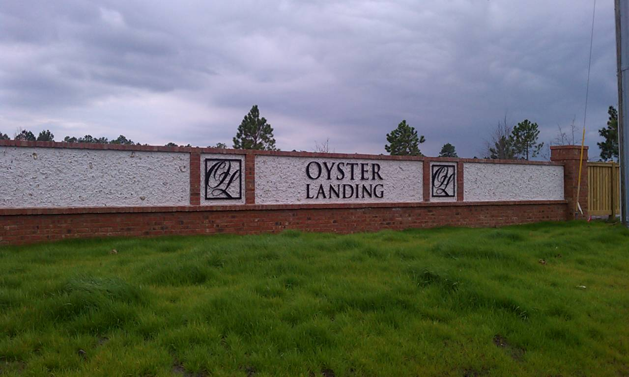 Entrance to Oyster Landing